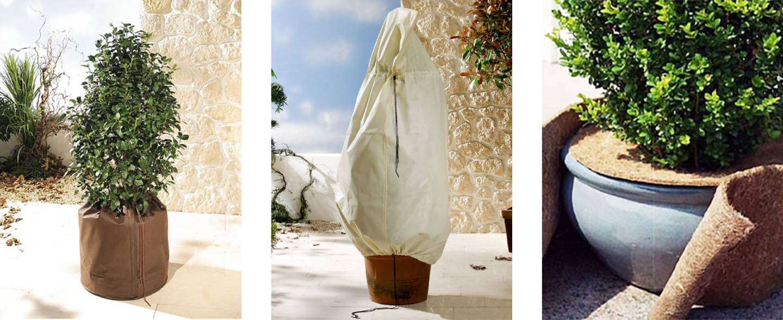 exempel på produkter för frostskydd av krukor och krukväxter